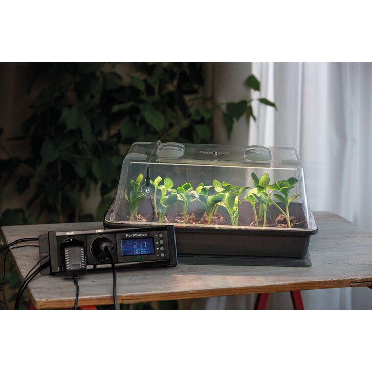 Romberg Climatic M LED greenhouse with heating mat, lighting and thermostat