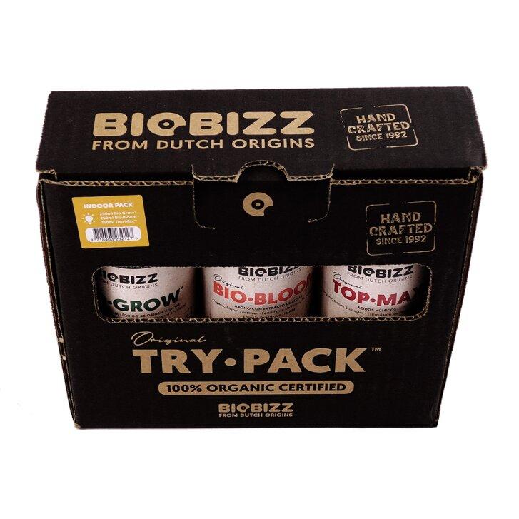 Biobizz Try Pack Indoor, 3x fertilizer in sample size, 250ml each